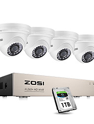 cheap -ZOSI H.265 8CH 2MP 1080P POE NVR Kit CCTV Home Security System 2MP Waterproof Indoor/Outdoor Dome IP Camera Video Surveillance Set Pre-installed 1TB Hard Disk