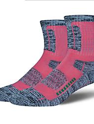 cheap -R-BAO Hiking Socks Socks 1 Pair Breathable Warm Sweat-wicking Comfortable Chinlon Elastane Autumn / Fall Spring Winter for Women's Ski / Snowboard Fishing Climbing Yellow Fuchsia Green / Cotton