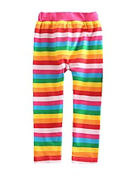 cheap -Kids Toddler Girls' Basic Red Striped Rainbow Lace up Leggings Rainbow
