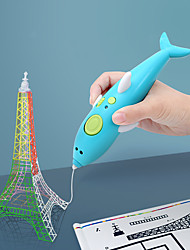 cheap -Drawing Toy 3D Printing Pen Rabbit Dolphin Soft Plastic Plastic Painting DIY Low Temperature Kids Preschool Boys and Girls for Birthday Gifts or Party Favors