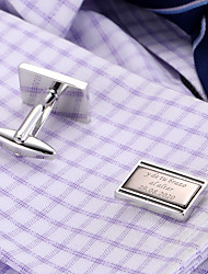 cheap -Personalized Customized Men's Cufflink Set Geometrical Geometric 1pc / pack Black