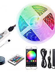 cheap -ZDM 5M LED Light Strips RGB Tiktok Lights WiFi Intelligent Remote Dimming Watetproof 300 LEDS 5050 SMD with IR24 key Controller Kit DC12V