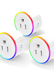 cheap -1 pcs smart plug Scene Lamp wifi Mobile Phone RGB Timing Switch Socket Remote Control