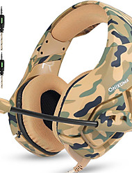 cheap -ONIKUMA K1B Gaming Headset Over Ear 3.5mm Headphones with Mic Noise Cancelling Deep Bass Surround Stereo for PS4 New Xbox one PC Mac Laptop, Smart Phones, Nintendo Switch-Camouflage