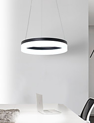 cheap -LED 20W Modern Led Pendant Light Round Ceiling Hanging Suspension Fixture Aluminium Acrylic 16 Inches with Warm White  White  Dimmable with Remote WIFI Smart Works with Google Home Alexa