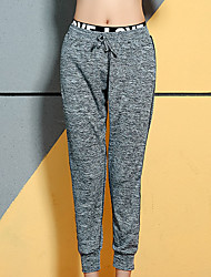 cheap -Women's High Waist Yoga Pants Harem Drawstring Cropped Pants Breathable Quick Dry Black Gray Yoga Gym Workout Running Sports Activewear