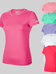 cheap -Women's Short Sleeve Running Shirt Tee Tshirt Top Breathable Quick Dry Moisture Wicking Gym Workout Running Active Training Walking Jogging Sportswear Solid Colored White Purple Red Pink Fuchsia Green