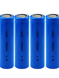 Недорогие -4 шт. 14500 батарея 3.7 В 1300 мАч литиевая аккумуляторная батарея для фонарика фара светодиодная ночная электрическая зубная щетка