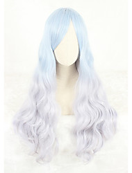 cheap -Cosplay Costume Wig Cosplay Wig Lolita Straight Cosplay Halloween With Bangs Wig Long Ombre Blue Synthetic Hair 31 inch Women's Anime Cosplay Color Gradient Ombre