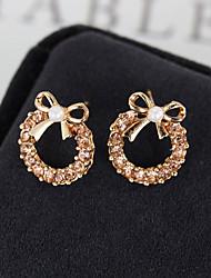 cheap -Women's Stud Earrings Classic Bowknot Sweet Cute Imitation Pearl Earrings Jewelry Champagne For Daily Street Work Festival 1 Pair