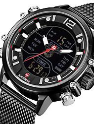 cheap -KADEMAN Men's Sport Watch Quartz Modern Style Sporty Outdoor Water Resistant / Waterproof Analog - Digital Black+Gloden Black Blue / Stainless Steel / Calendar / date / day / Noctilucent