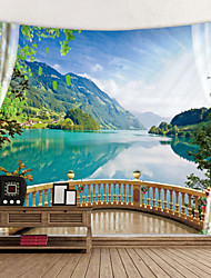 cheap -Window Landscape Wall Tapestry Art Decor Blanket Curtain Picnic Tablecloth Hanging Home Bedroom Living Room Dorm Decoration Polyester Lake Rive Forest Mountain