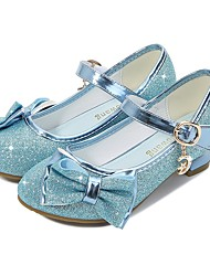 cheap -Cinderella Princess Elsa Flower Shoes Jelly Shoes Girls' Movie Cosplay Mary Jane Sequins Golden Purple Blue Shoes Children's Day Masquerade Polyester