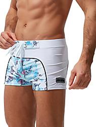 povoljno -Muškarci Swim Trunks Spandex Kupaći kostimi Prozračnost Quick dry Vezica - Plivanje Kolaž Ljeto / Mikroelastično