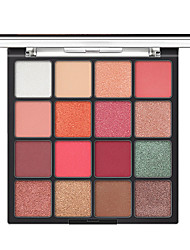 cheap -16 Colors Eyeshadow Palette Glitter Waterproof Matte Silky Pigments Eye Makeup