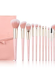 cheap -Professional Makeup Brushes 12pcs Soft Artificial Fibre Brush Wooden / Bamboo for Foundation Brush Eyeshadow Brush Makeup Brush Set