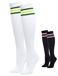 cheap -Women's Golf Thigh High Socks Moisture Wicking High Elasticity Sweat wicking Sports Outdoor Summer Spandex Cotton Stripes White Black