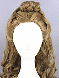 cheap -Cosplay Wig Cinderella Cosplay Curly Cosplay Halloween Braid Wig Long Brown Synthetic Hair 21 inch Women's Anime Cosplay Comfortable Brown
