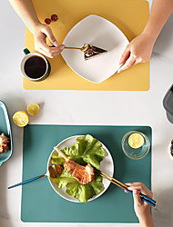 cheap -4pc Silicone Waterproof Placemat Table Mat Heat Insulation Anti-skidding Washable Durable For Kitchen Dining