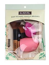 cheap -Professional Makeup Brushes 4pcs Soft Artificial Fibre Brush Wooden / Bamboo for Foundation Brush Makeup Brush Set