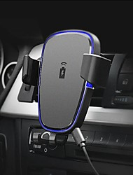 cheap -360 Degree Rotation Qi Car Air Vent Wireless Phone Charger Holder Black ABS Stand Mount for IPhone X