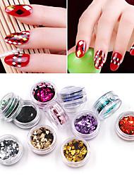 tanie -12 sztuk / zestaw laserowy brokat błyskotka płatków ultra-cienki kolorowy romb cekiny paznokci zdobienie paznokci