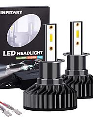 Недорогие -Инфинитарный 2шт высокой мощности светодиодные h3 авто лампы фар автомобиля 72 Вт 8000lm светодиодные автомобильные лампочки