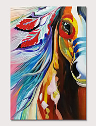 cheap -Mintura Hand Painted Hores Animal Oil Paintings on Canvas Modern Wall Picture Pop Art Posters For Home Decoration Ready To Hang