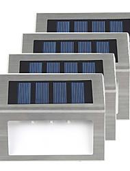 cheap -8pcs 4pcs 2pcs Security 3 LEDs Solar Light Stainless Steel Solar Power Garden Light Waterproof Outdoor Energy Saving Courtyard Lamp Lighting