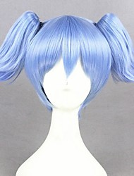 cheap -Cosplay Wig Shiota Nagisa Ansatsu Kyoushitsu Curly Cosplay Halloween With 2 Ponytails With Bangs Wig Short Blue Synthetic Hair 12 inch Women's Anime Cosplay Adorable Blue