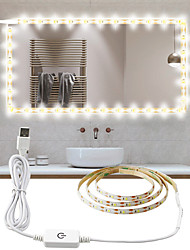 cheap -2m Flexible LED Light Strips 160 LEDs 2835 SMD 8mm 1 x On-line Dimmer Dwitch 1 set Warm White / White Waterproof / Cuttable / USB USB Powered