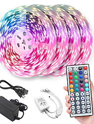 cheap -20m Light Sets LED Light Strips RGB Tiktok Lights 600 LEDs 5050 SMD 10mm Remote Control RC Cuttable Dimmable Linkable Suitable for Vehicles Self-adhesive Color-Changing IP44