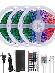 cheap -MASHANG 15M(3*5M) LED Strip Lights RGB Tiktok Lights 900LEDs Flexible Color Change SMD 5050 with 44 Keys IR Remote Controller and 100-240V Adapter for Home Bedroom Kitchen TV Back Lights DIY Deco