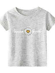billiga -Barn Småbarn Flickor Kineseri Geometrisk Tryck Kortärmad T-shirt Svart