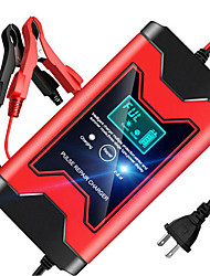 cheap -12V 6A Full Automatic Car Battery Charger Power Pulse Repair Chargers Wet Dry Lead Acid Battery Chargers Digital LCD Display