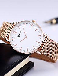 cheap -Men's Steel Band Watches Quartz Fashion Water Resistant / Waterproof Analog Black / Silver Black+Gloden White+Golden / One Year / Stainless Steel