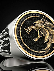 cheap -Band Ring Vintage Style Champagne Silver Copper Wolf Head Fashion 1pc 9 10 11 12 / Men's