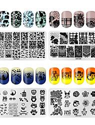 tanie -4 szt. Szablon do stemplowania Seria totemów Multi-design Nail Art Manicure Pedicure Unikalny design / Koreański Codziennie