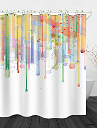cheap -Paint Creative Painting Digital Print Waterproof Fabric Shower Curtain for Bathroom Home Decor Covered Bathtub Curtains Liner Includes with Hooks