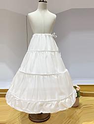 cheap -Princess Petticoat Hoop Skirt Girls' Movie Cosplay White Petticoat Polyester