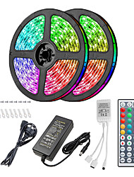 cheap -10m Light Sets LED Light Strips RGB Tiktok Lights 300 LEDs 5050 SMD 10mm Remote Control RC Cuttable Dimmable 100-240 V Linkable Suitable for Vehicles Self-adhesive Color-Changing IP44