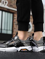 cheap -Men's Running Shoes Sneakers Sweat-wicking Comfortable Running Jogging Autumn / Fall Winter Red / White Black Khaki