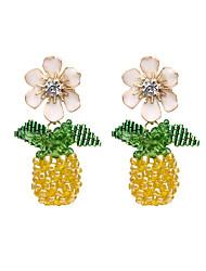 cheap -Women's Drop Earrings Earrings Dangle Earrings Fancy Fruit Statement Holiday Trendy Fashion Colorful Earrings Jewelry Red / Yellow For Gift Date Vacation Street Festival 1 Pair / Crystal Earrings