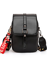cheap -Women's Bags PU Leather Mobile Phone Bag Buttons Solid Color for Date / Office & Career White / Black / Purple / Red / Fall & Winter
