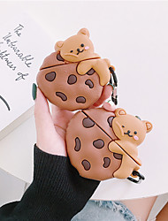 cheap -3D Bear pillow case for Apple airpods 1 2 Cute funny cartoon Koala expression cover silicone earphone box ring Accessories
