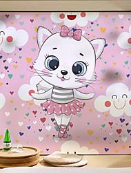 cheap -Cute Cat Pattern Matte Window Sticker Bathroom Kitchen Kids Room Shop Living Room Bedroom Balcony Window Film 60*58cm
