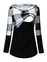 cheap -Women's T-shirt Color Gradient Tops Round Neck Daily Black Red S M L XL 2XL