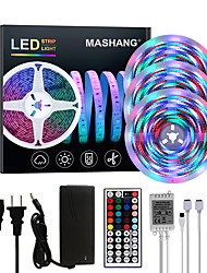 cheap -Bright RGBW LED Strip Lights 15M(3x5M) Waterproof RGBW Tiktok Lights 3510LEDs SMD 2835 with 44 Keys IR Remote Controller and 100-240V Adapter for Home Bedroom Kitchen TV Back Lights DIY Deco