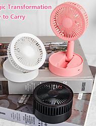 cheap -Fan Folding Telescopic Mini Fan USB Rechargeable Air Cooler Summer Portable Standing Fan Desktop Electric Fan Gentle Mute