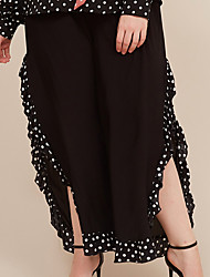 cheap -Women's Basic Daily Loose Wide Leg Pants - Solid Colored Black L / XL / XXL